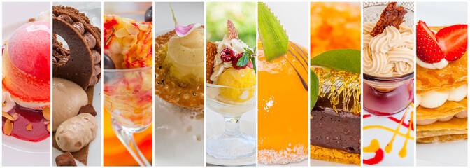 assemblage de desserts