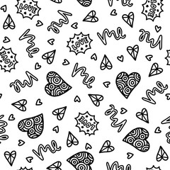 Doodles cute seamless pattern.