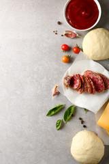 Concrete food background