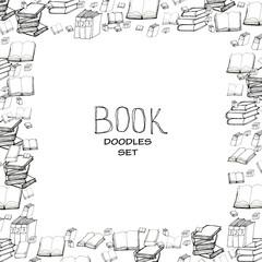 Book doodle frame
