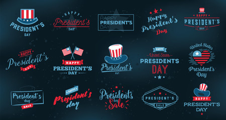 Presidents day vector typography. Fotomurales