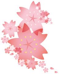 桜 背景のイメージイラスト