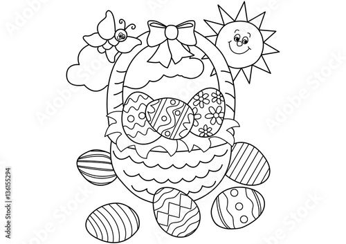 Easter Basket Drawing Picture