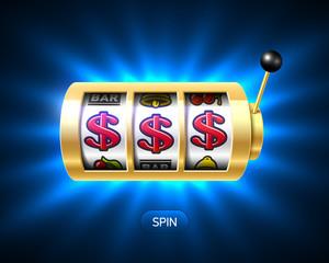 Dollars jackpot on slot machine
