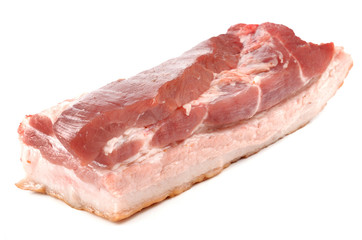 Bacon on a white background