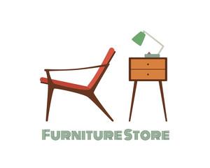 Furniture store print