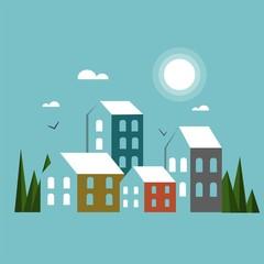 City vector illustration.