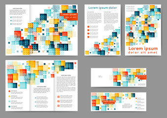 Colored abstract brochure