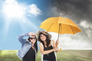 Wahre Freundschaft bei Wind und Wetter.