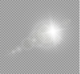 Abstract golden sun lens flare