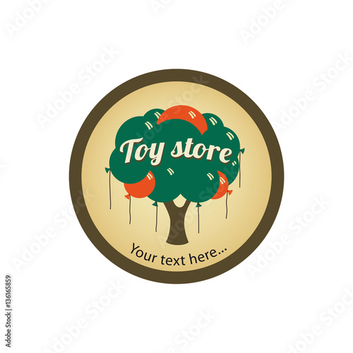 Toy Store Logo : Quot toy store logo with balloons stockfotos und lizenzfreie