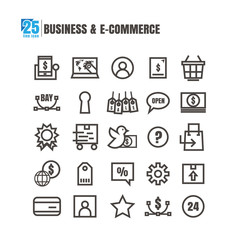 icons Business E-commerce vector on white background