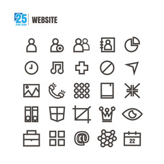 icons Website vector on white background