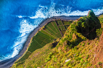 Wall Mural - Aerial view from the highest Cabo Girao, Madeira island, Portugal