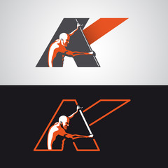 kayak logo with big K letter