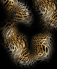 leopard leather