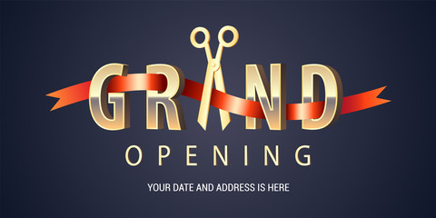 Grand opening vector background Wall mural