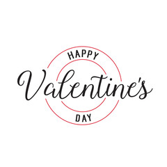 Happy Valentines Day Lettering Stamp