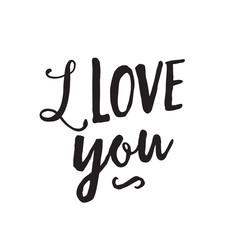I Love You Inscription and Swirl