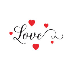 Love Lettering with Hearts