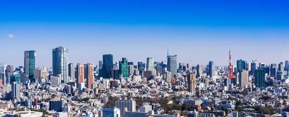 東京タワーと都市風景