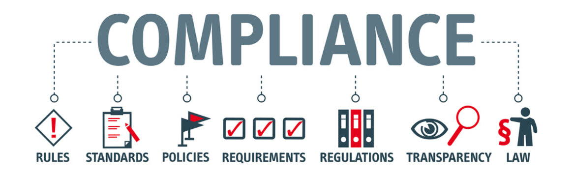 Banner compliance concept english keywords