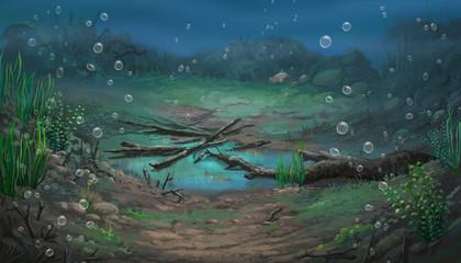 Paint pictures underwater