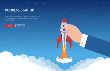 Business Startup Banner Concept