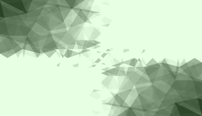 green white polygonal background