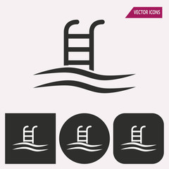 Pool - vector icon.