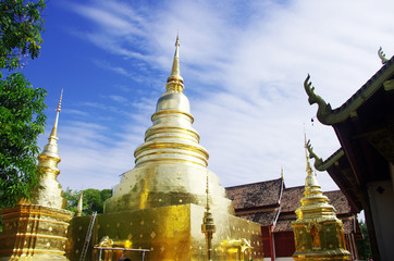 Temple in Thailand. Chedi
