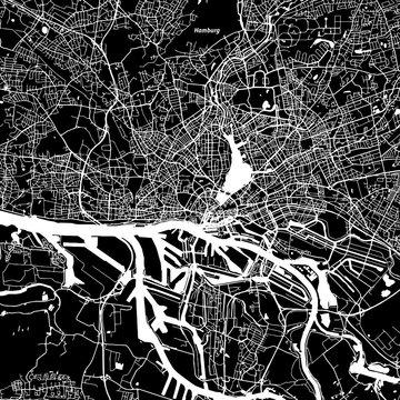 Hamburg Vector Map