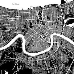 New Orleans Vector Map