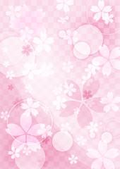 桜 背景のイメージイラスト(和柄)
