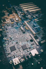 Computer motherboard electrical components