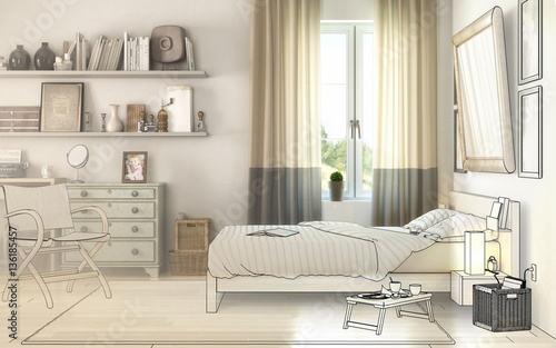 schlafzimmereinrichtung idee fotos de archivo e im genes libres de derechos en. Black Bedroom Furniture Sets. Home Design Ideas