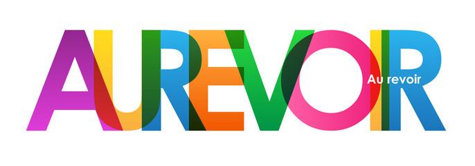 Lettres vecteur AU REVOIR