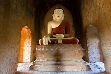 Red painted Buddha