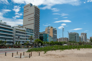 Apartment Buildings in Front of the Ipanema Beach in Rio de Janeiro, Brazil