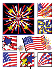 American Celebration in Solid Colors