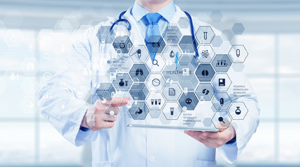 Medical technology concept . Mixed media