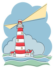 Striped Lighthouse_Horizontal