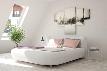Modern interior design of bedroom