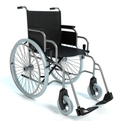3d illustration of a wheelchair