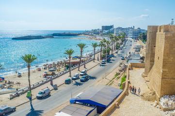The coastline of Monastir
