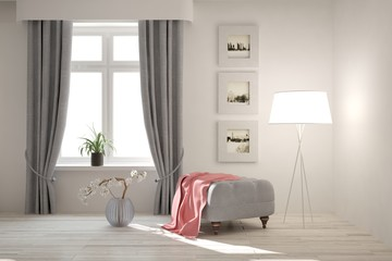 Modern interior design with chair