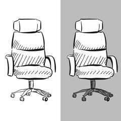 Bürodrehstuhl Chefsessel Vektor Skizze