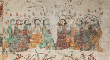 Mary Magdalena and the twelve apostles