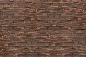 Wall Mural - dark brown modern brick wall for pattern and background