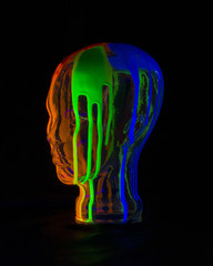glowing head at angle